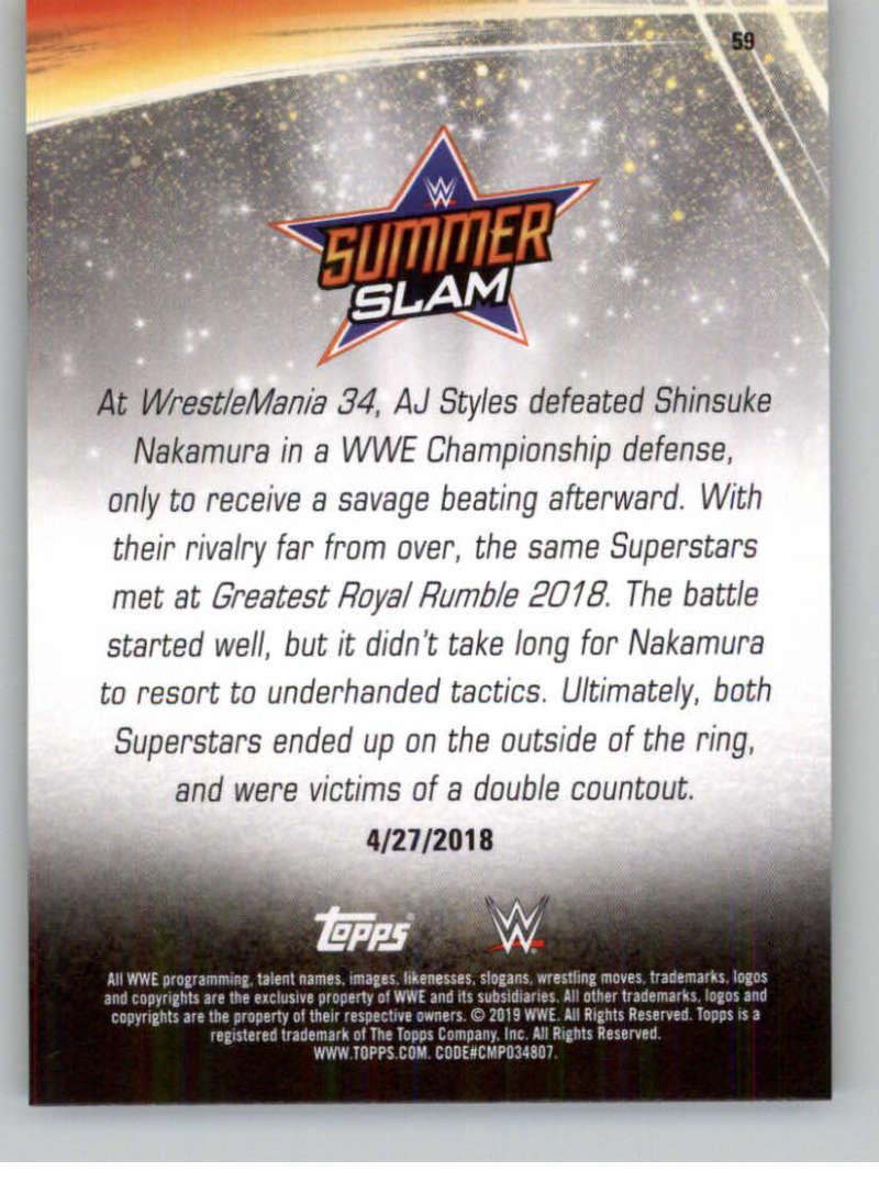 2019-WWE-Topps-SummerSlam-Parallels-Logo-Mat-Shirt-Relics-Pick-Your-Cards-Lot thumbnail 83