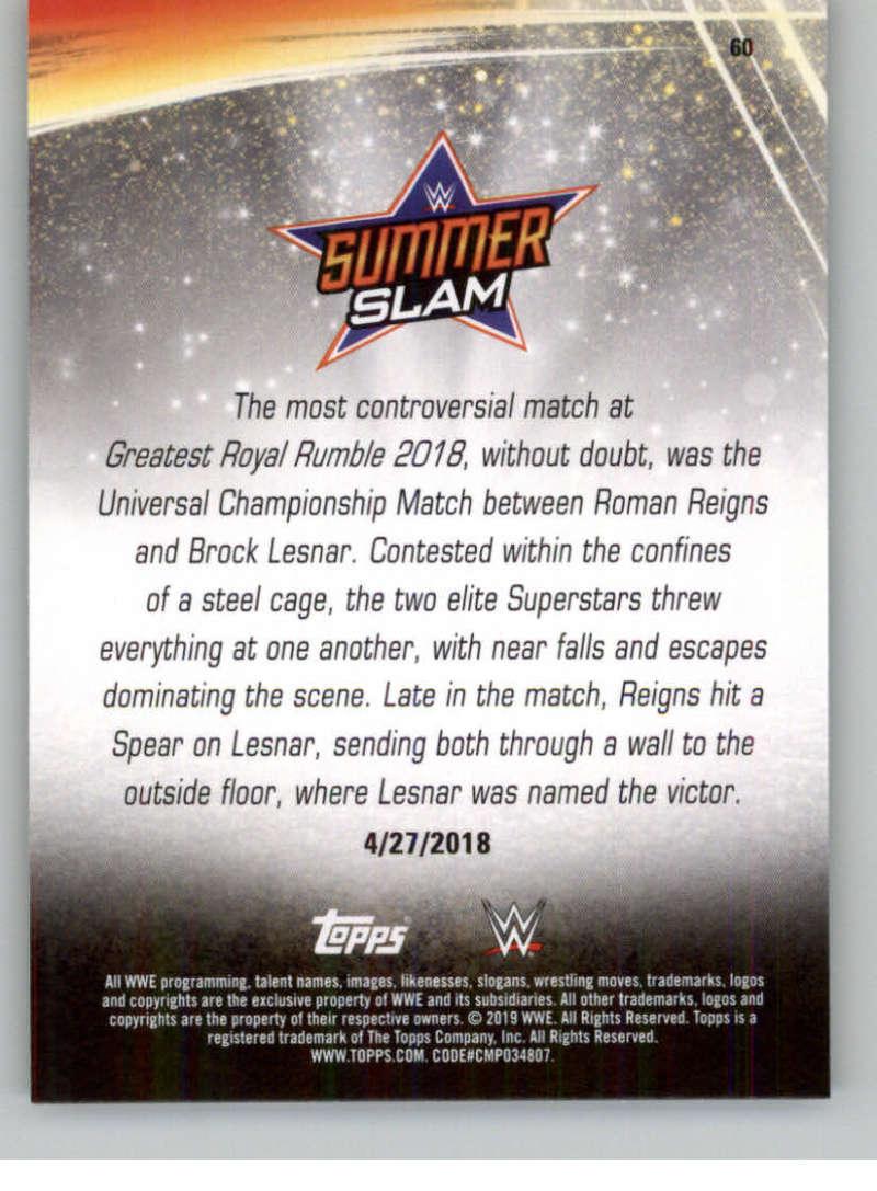 2019-WWE-Topps-SummerSlam-Parallels-Logo-Mat-Shirt-Relics-Pick-Your-Cards-Lot thumbnail 85