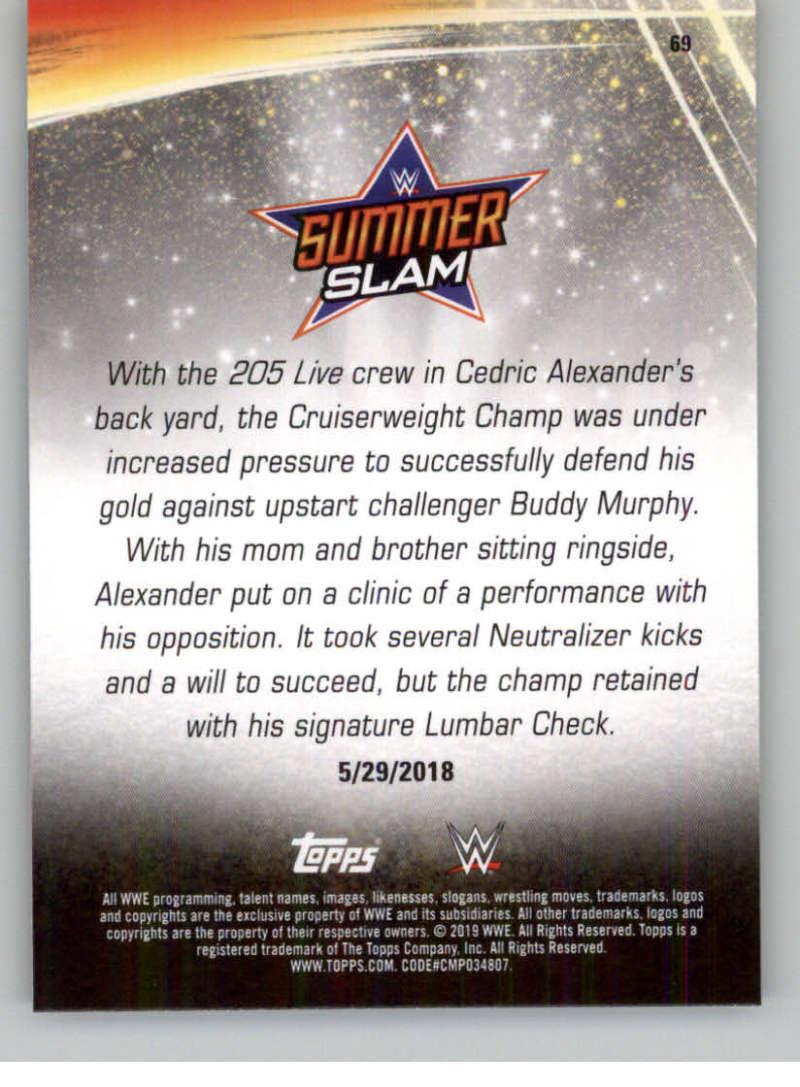 2019-WWE-Topps-SummerSlam-Parallels-Logo-Mat-Shirt-Relics-Pick-Your-Cards-Lot thumbnail 97