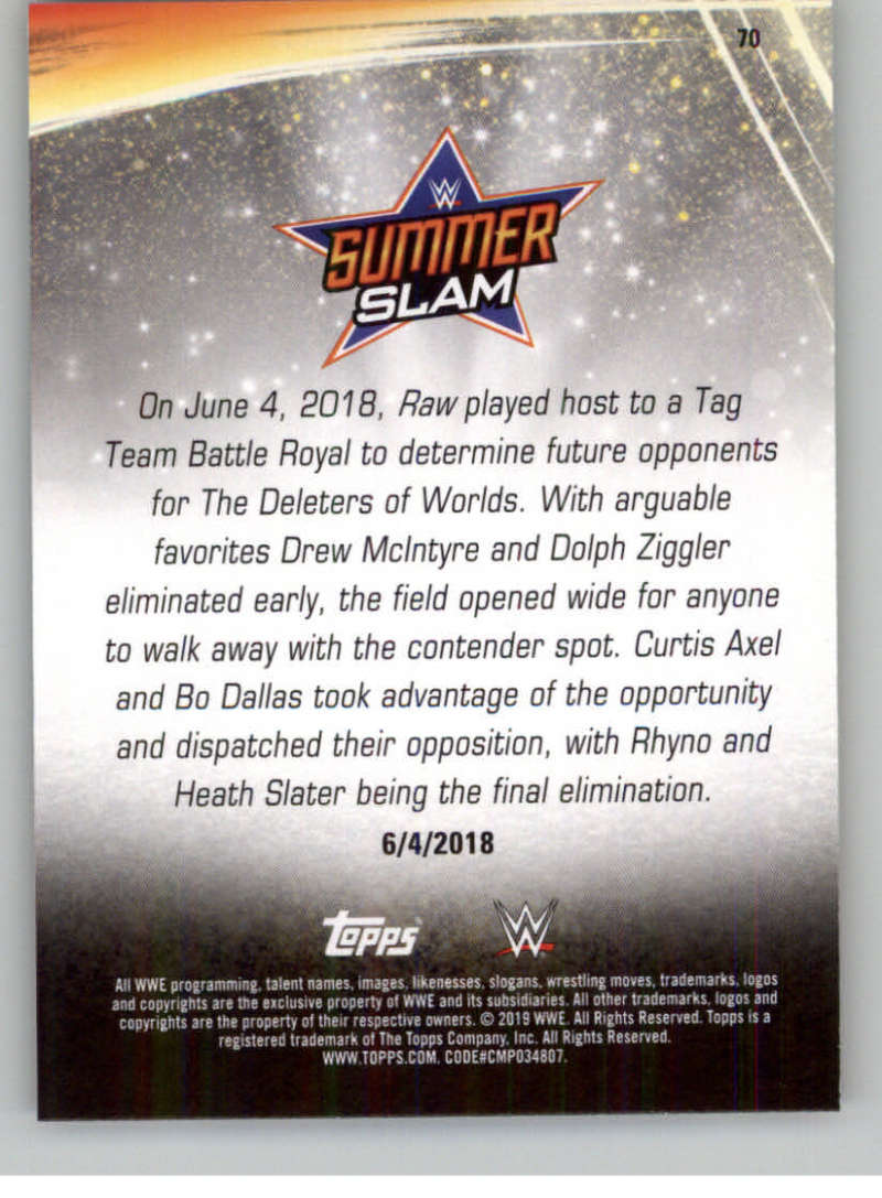 2019-WWE-Topps-SummerSlam-Parallels-Logo-Mat-Shirt-Relics-Pick-Your-Cards-Lot thumbnail 99