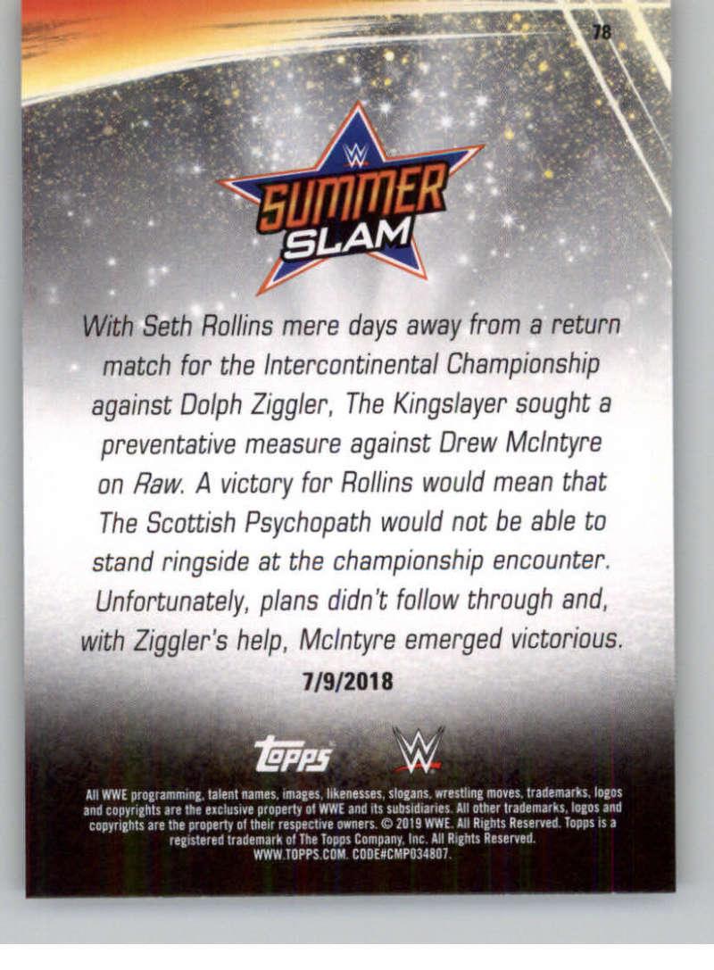 2019-WWE-Topps-SummerSlam-Parallels-Logo-Mat-Shirt-Relics-Pick-Your-Cards-Lot thumbnail 109