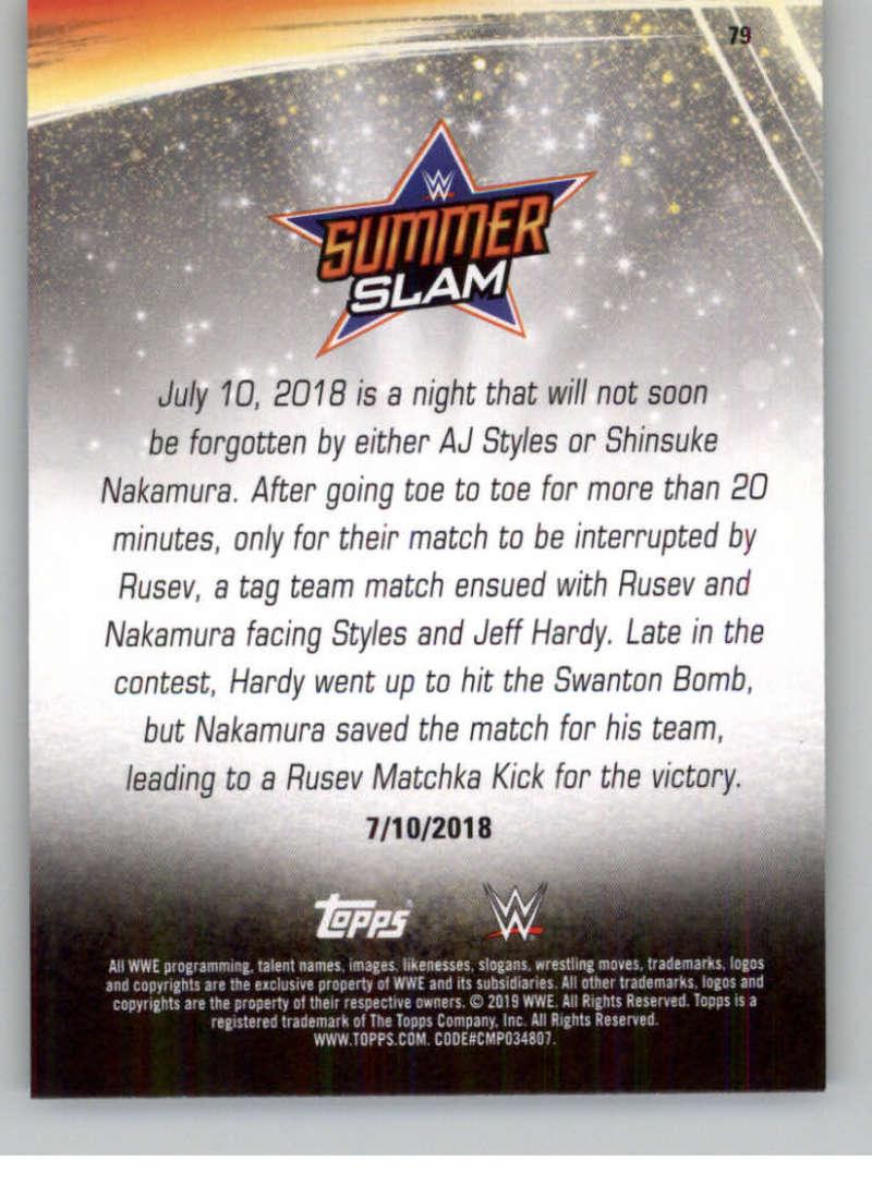 2019-WWE-Topps-SummerSlam-Parallels-Logo-Mat-Shirt-Relics-Pick-Your-Cards-Lot thumbnail 111