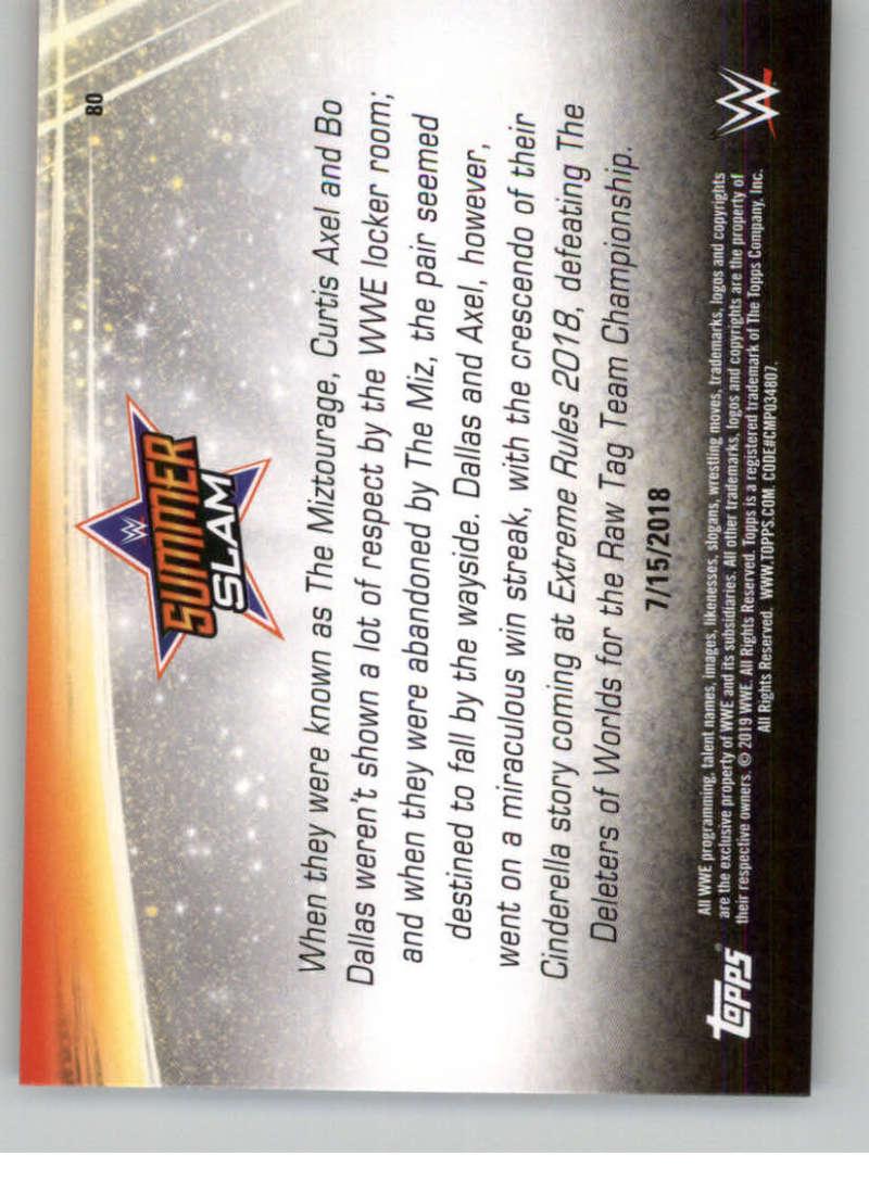 2019-WWE-Topps-SummerSlam-Parallels-Logo-Mat-Shirt-Relics-Pick-Your-Cards-Lot thumbnail 113