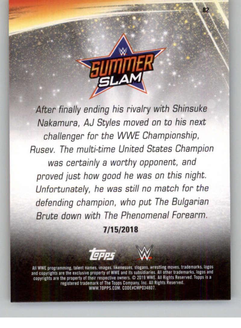 2019-WWE-Topps-SummerSlam-Parallels-Logo-Mat-Shirt-Relics-Pick-Your-Cards-Lot thumbnail 117
