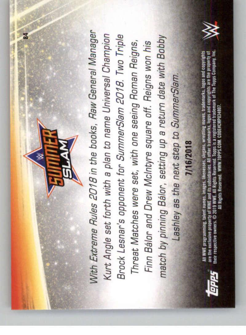 2019-WWE-Topps-SummerSlam-Parallels-Logo-Mat-Shirt-Relics-Pick-Your-Cards-Lot thumbnail 119