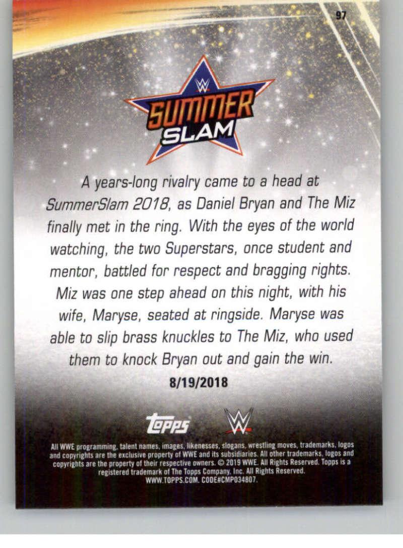 2019-WWE-Topps-SummerSlam-Parallels-Logo-Mat-Shirt-Relics-Pick-Your-Cards-Lot thumbnail 139