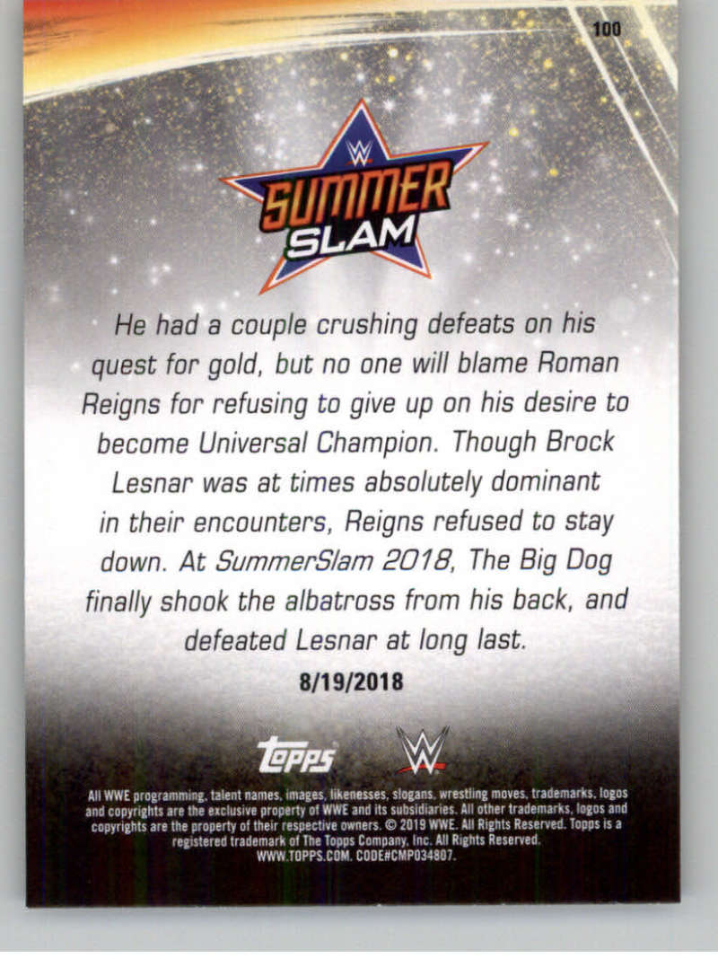 2019-WWE-Topps-SummerSlam-Parallels-Logo-Mat-Shirt-Relics-Pick-Your-Cards-Lot thumbnail 143