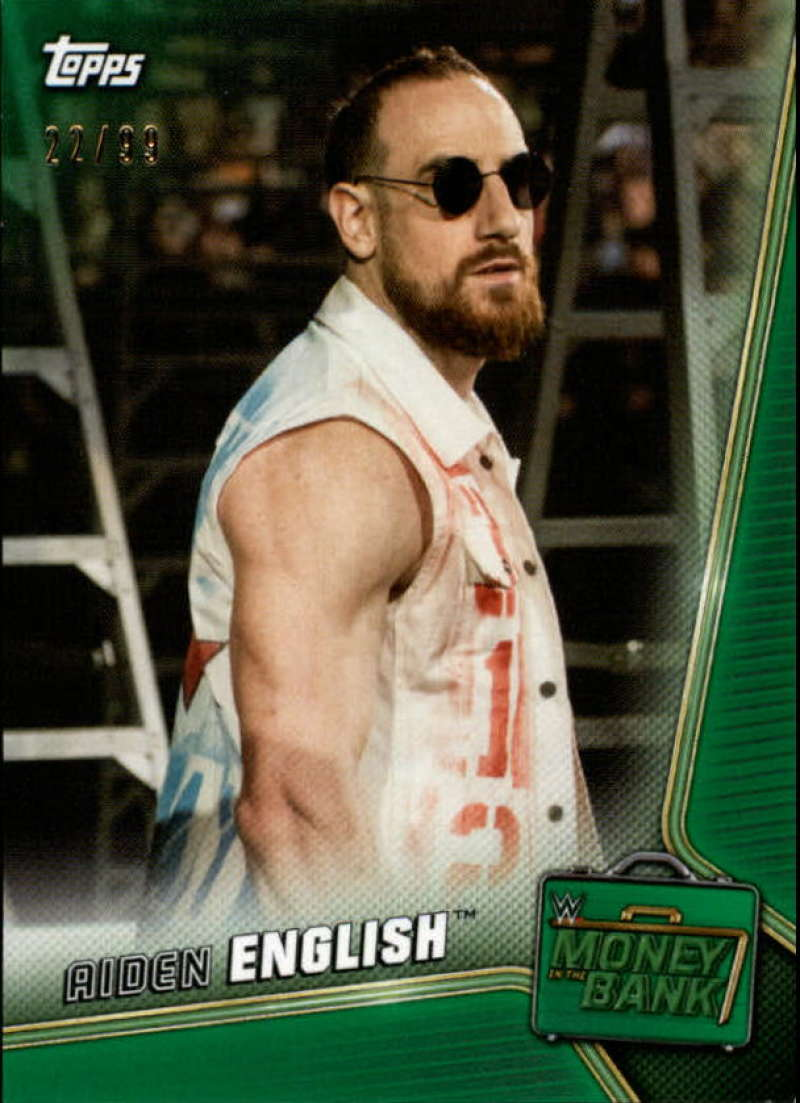 2019 Topps WWE Money in the Bank Green
