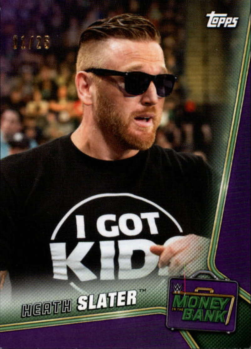 2019 Topps WWE Money in the Bank Purple