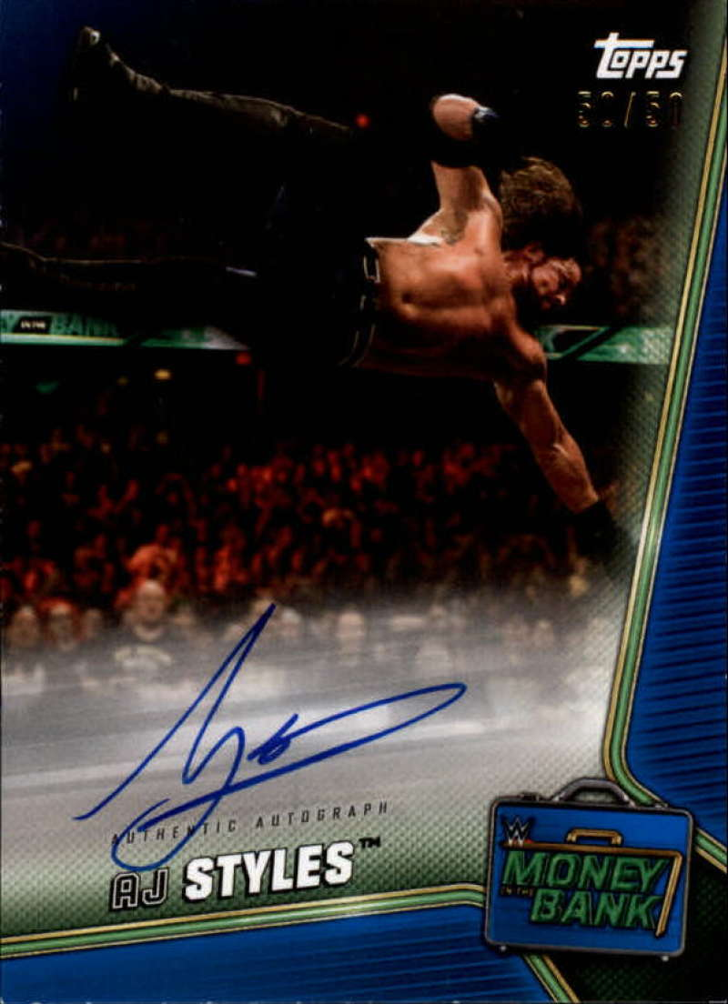 2019 Topps WWE Money in the Bank Autographs Blue