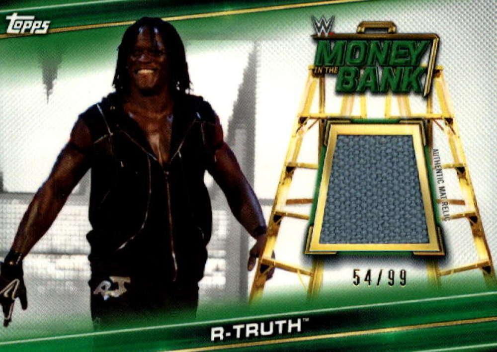 2019 Topps WWE Money in the Bank Superstar Mat Relics Green