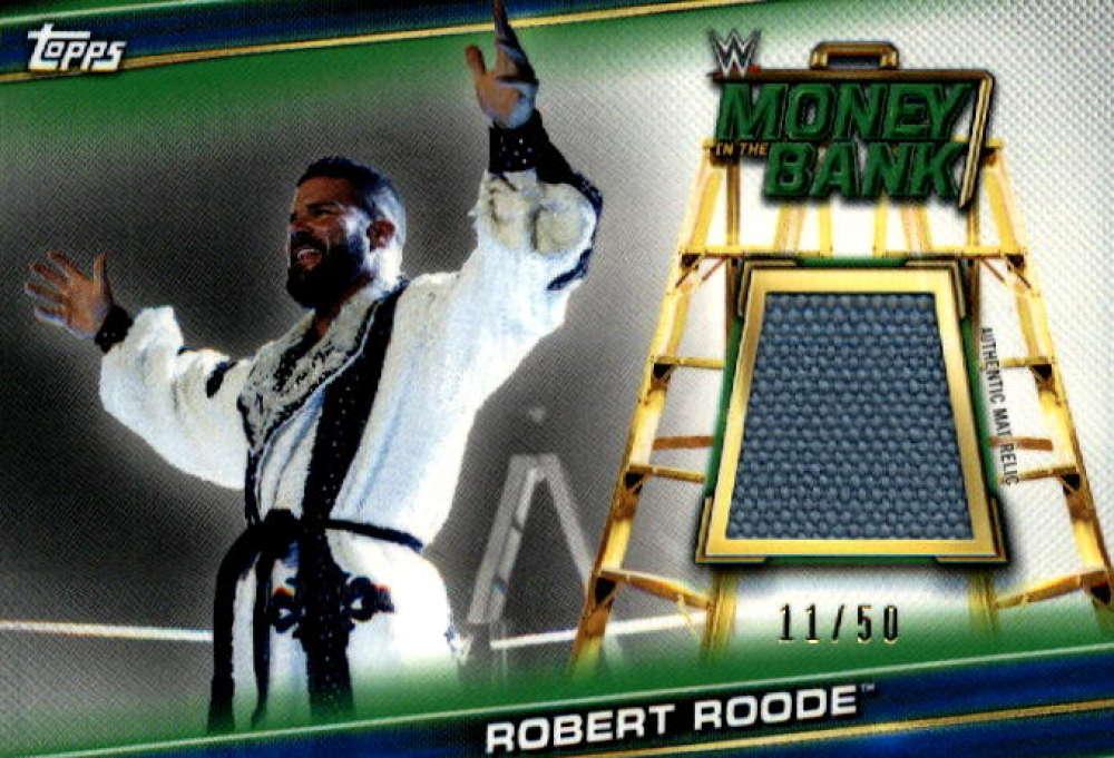 2019 Topps WWE Money in the Bank Superstar Mat Relics Blue