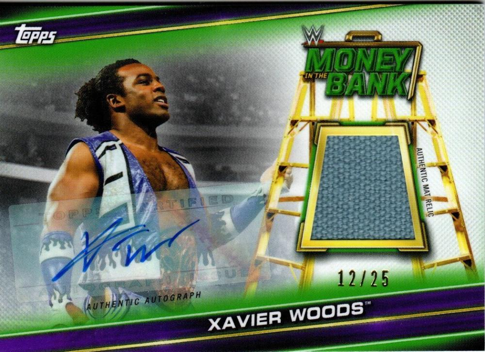 2019 Topps WWE Money in the Bank Superstar Mat Relic Autographs