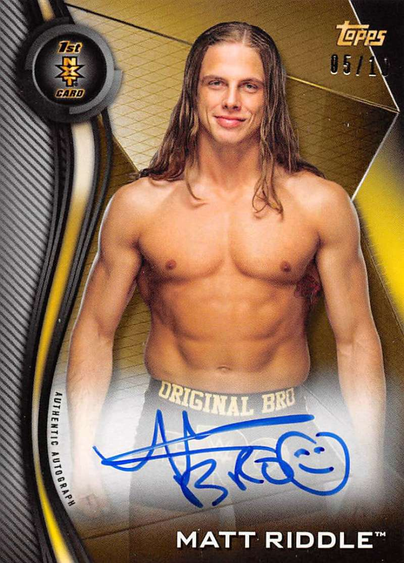 2019 Topps NXT Autographs Gold