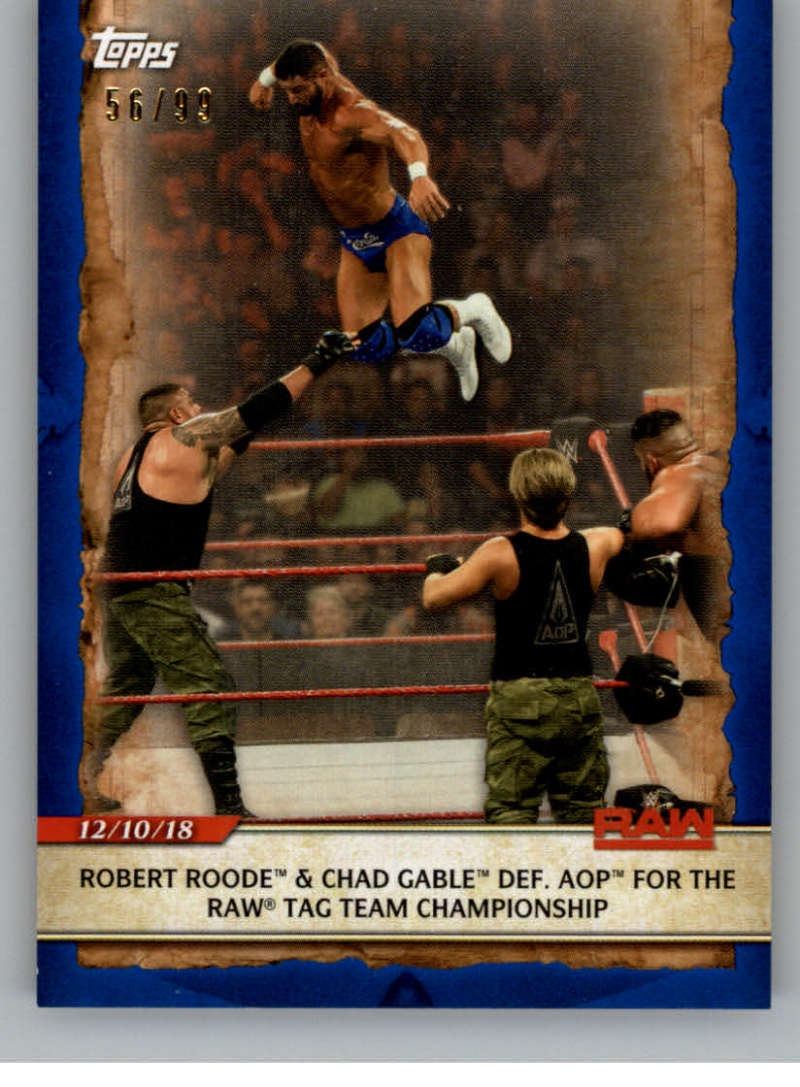 2020 Topps Road to WrestleMania Blue