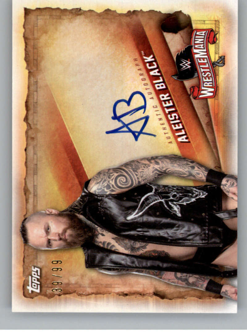 2020 Topps Road to WrestleMania Autographs