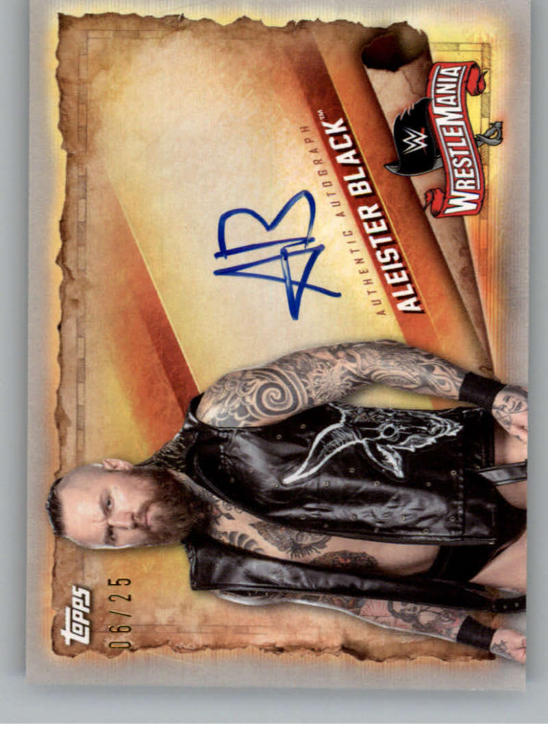 2020 Topps Road to WrestleMania Autographs Silver
