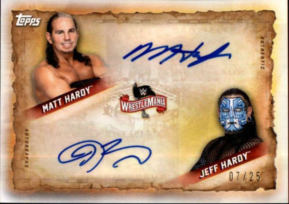 2020 Topps Road to WrestleMania Dual Autographs