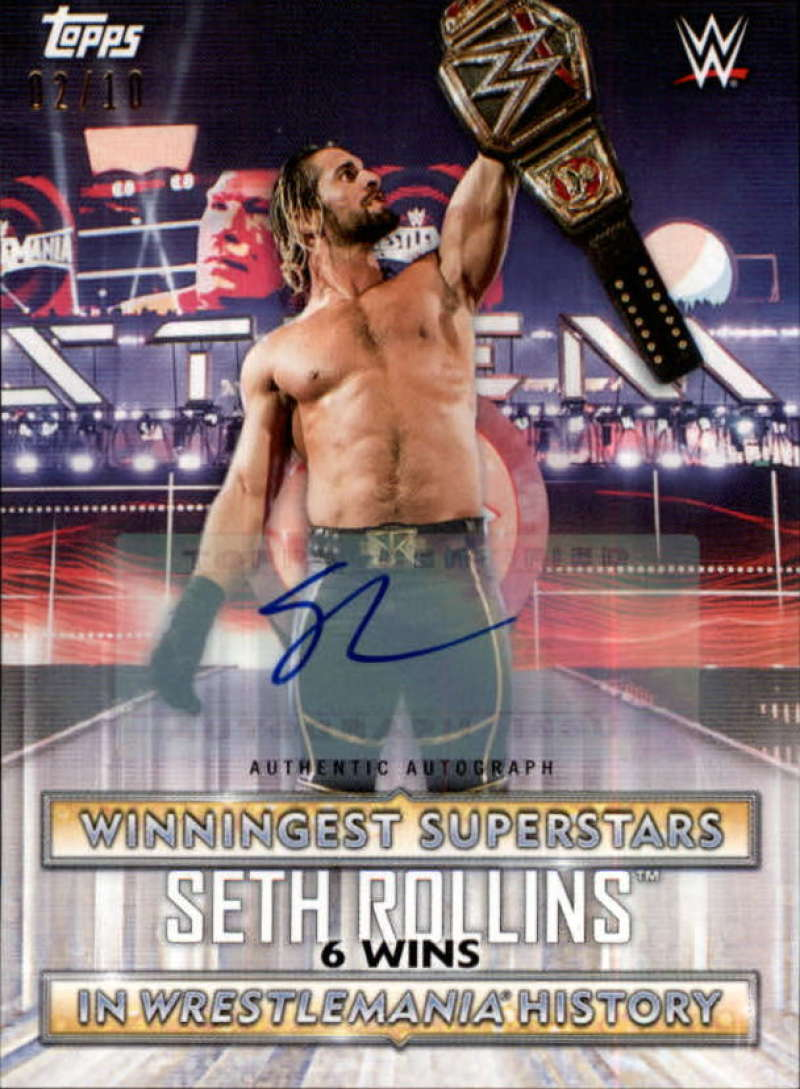 2020 Topps Road to WrestleMania Winningest Superstars in WrestleMania History Autographs