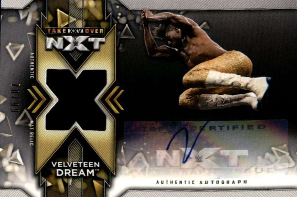 2020 Topps NXT Autographed Mat Relics