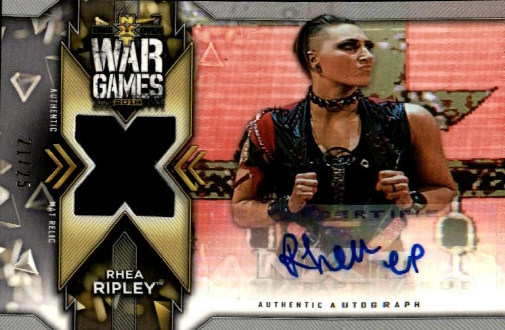 2020 Topps NXT Autographed Mat Relics Silver